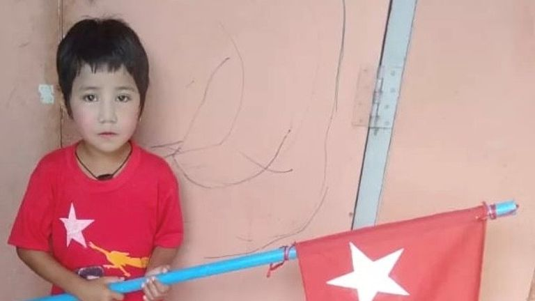 Khin Myo Chit, seven year-old girl shot in Myanmar
