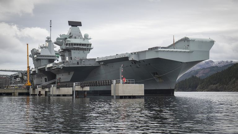 The HMS Queen Elizabeth is currently visiting western Scotland for the first time