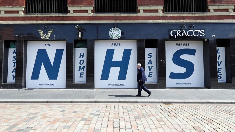 A message of support for the NHS in Glasgow during the pandemic