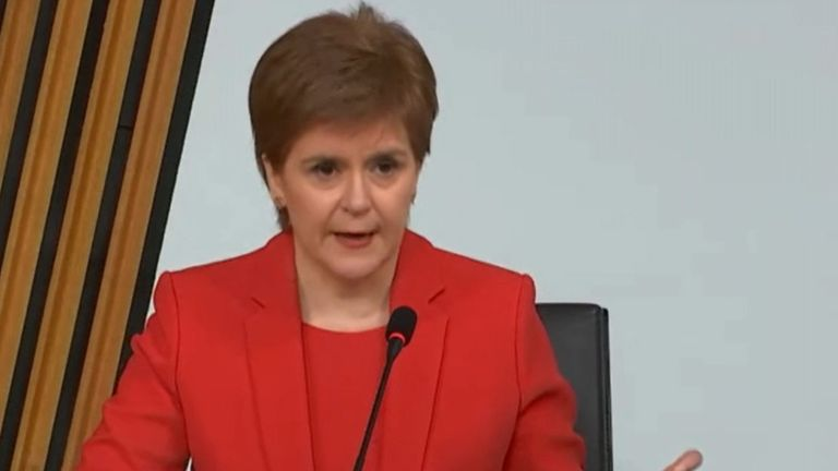 Nicola Sturgeon gives evidence to the committee in Edinburgh