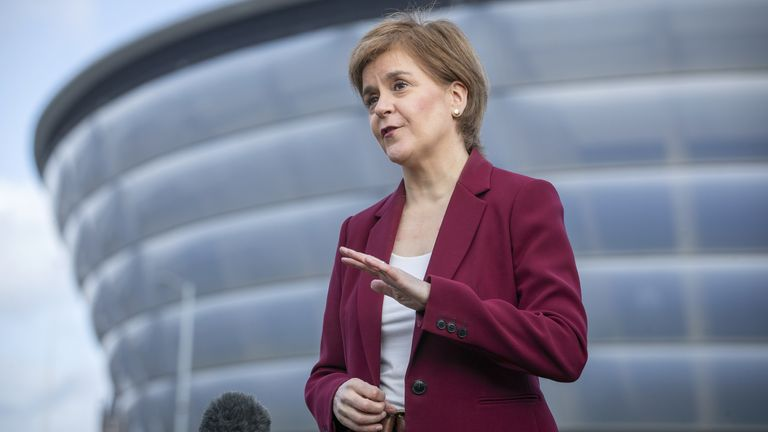 First Minister Nicola Sturgeon, leader of the Scottish National Party
