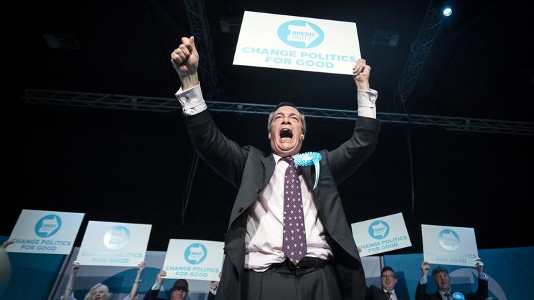 Mr Farage lobbied the government on its handling of Brexit negotiations as Brexit Party leader
