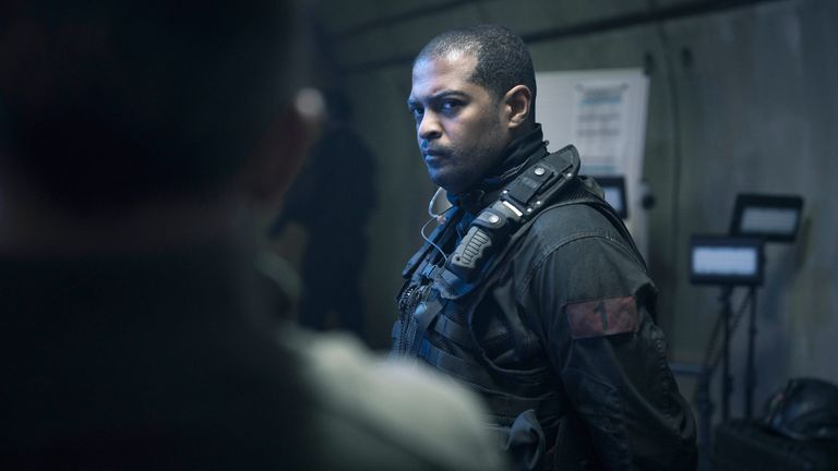 Noel Clarke is currently starring in Sky Original SAS: Red Notice. Pic: Red Notice Limited 2019