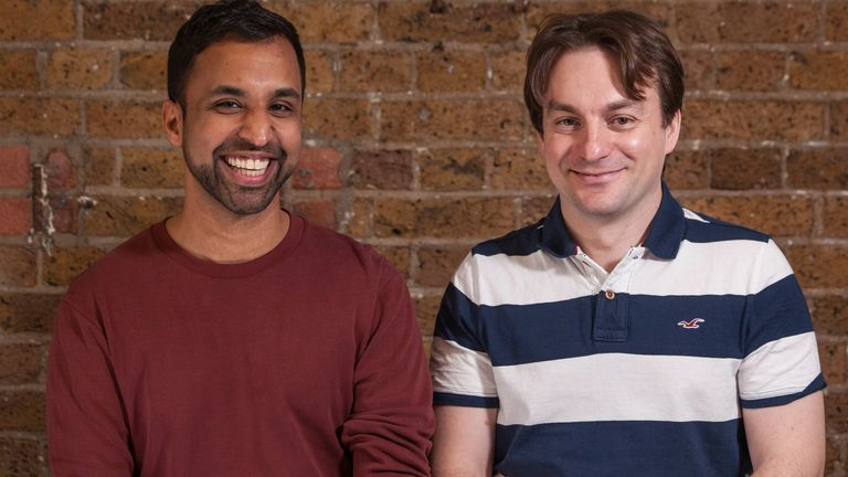 Dev Amratia and Alan Mosca are nPlan's co-founders