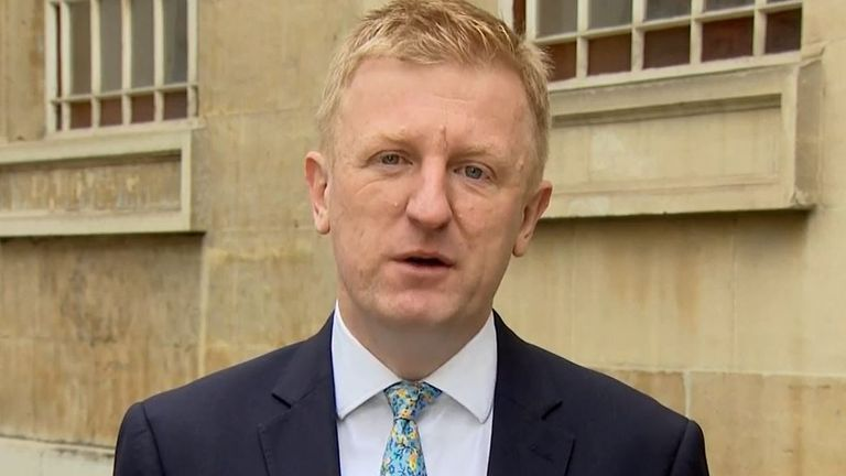 Oliver Dowden says that the supply of second doses has 'been factored in to the planning' by the government