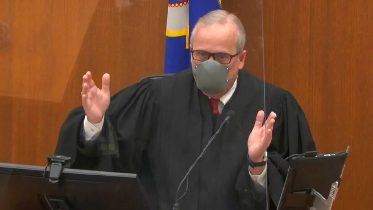 Hennepin County Judge Peter Cahill presides over pretrial motions before jury selection