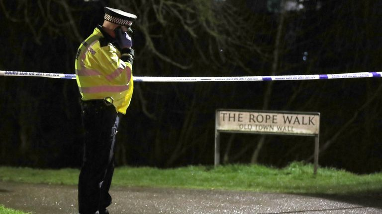 An area of The Rope Walk in Sandwich has been cordoned off