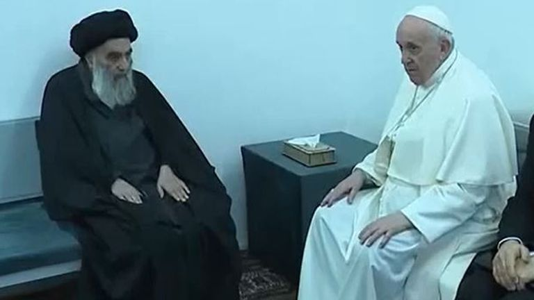 Pope Francis and Ayatollah Sistani meet in Iraq