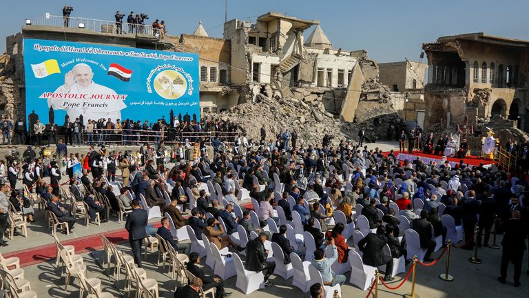 Pope Francis in Mosul - on the third day of his historic tour