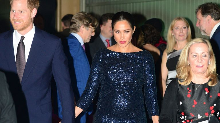 Prince Harry and Meghan, Duchess of Sussex attend the premiere of Cirque du Soleil's 'Totem' at the Royal Albert Hall in London in January 2019