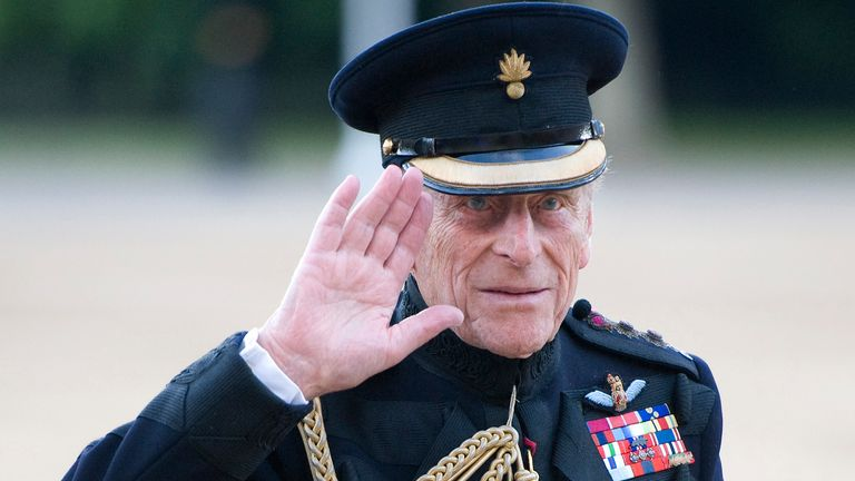 Britain's Prince Philip arrives for a reception at the Guards Museum, in central London, Thursday, June 9, 2011. (AP Photo/Paul Edwards, Pool)