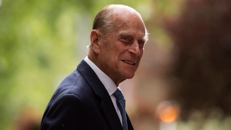 Britain's Prince Philip, the husband of Queen Elizabeth II, arrives for his visit to Richmond Adult Community College in Richmond, south west London, Monday, June 8, 2015.  The Prince on Monday, officially opened and was shown round the new art, drama and dance facilities at the further education college which offers up to 2,000 courses.  (AP Photo/Matt Dunham, Pool)