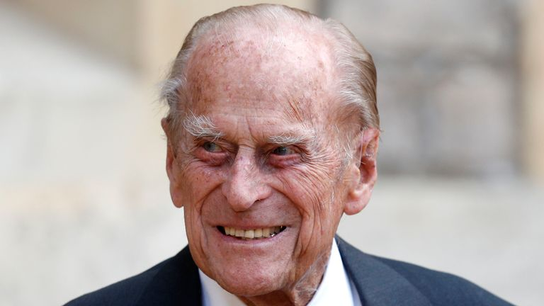 Prince Philip The Duke of Edinburgh at Windsor Castle for a ceremony for the transfer of the Colonel-in-Chief of the Rifles from the Duke to Camilla Duchess of Cornwall, at Windsor Castle, England, Wednesday July 22, 2020. The ceremony will begin at Windsor Castle where the Assistant Colonel Commandant, Major General Tom Copinger-Symes, will offer the salute and thank the Duke for his 67 years of support and service to The Rifles, and their forming and antecedent Regiments. The ceremony will con