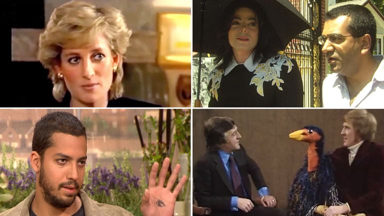 Princess Diana, David Blaine, Michael Jackson, Rod Hull & Emu with Parky
