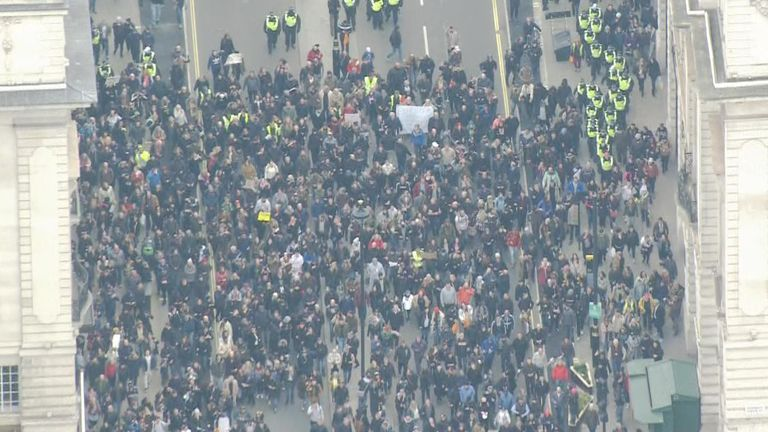 Anti-lockdown protest in London