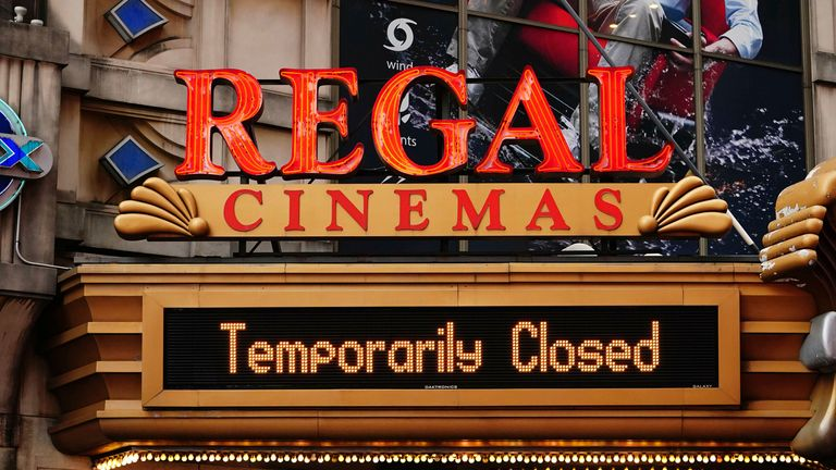 Cineworld has more than 500 Regal-branded cinemas in the United States. Pic: AP