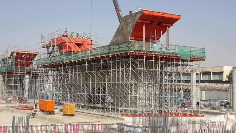 The company's recent contracts include work on the Riyadh metro system in Saudi Arabia. Pic: RMD