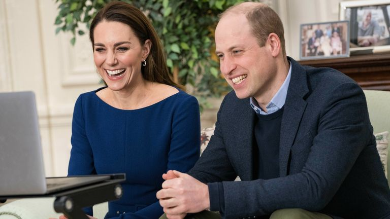 The Duke and Duchess of Cambridge during there virtual engagement