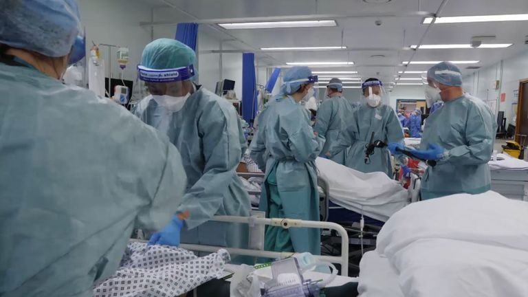 Sky News spent a month filming at the Royal Free Hospital in London