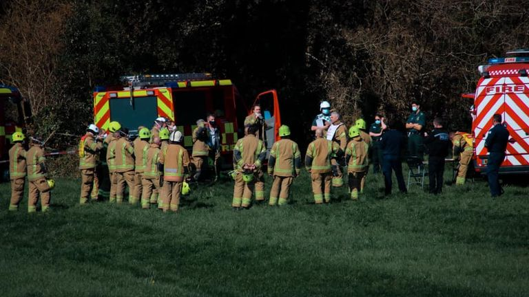 Emergency services at the scene. Pic: cornwall_in_focus