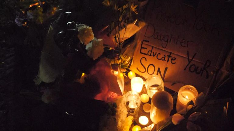 People across the country took part in a candlelit vigil for Sarah Everard on Saturday night
