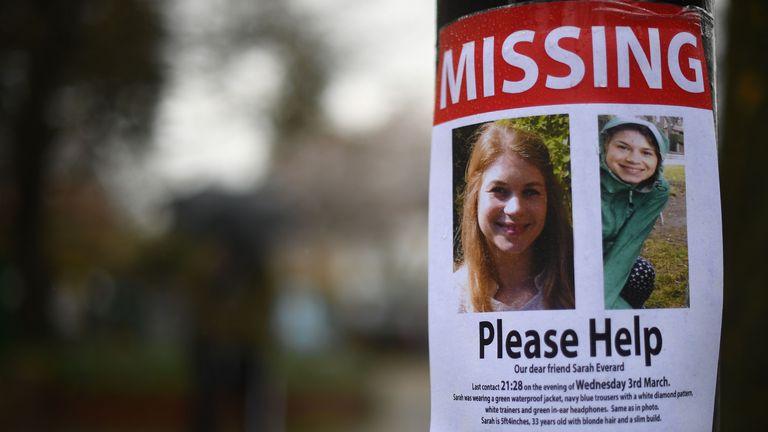 Sarah Everard è stata vista l'ultima volta il 3 marzo a sud di Londra