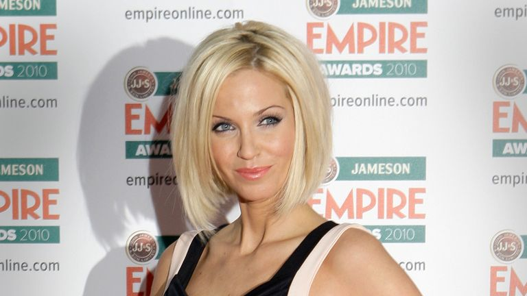 British singer Sarah Harding arrives for the 2010 Empire Film Awards at a hotel in central London, Sunday, March 28, 2010. (AP Photo/Joel Ryan)