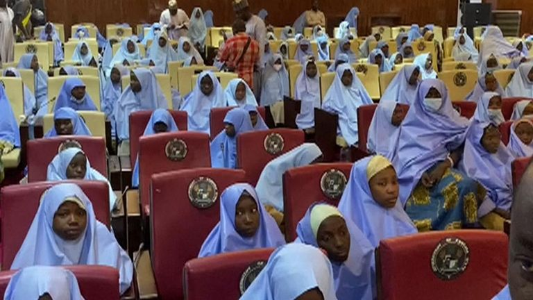 Kidnappers release schoolgirls abducted in Nigeria's Zamfara state, according to the state's governor.