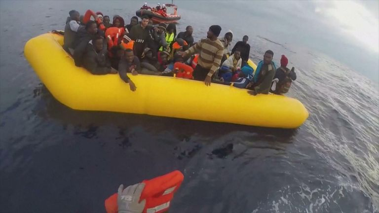 Migrants rescued by Sea Watch