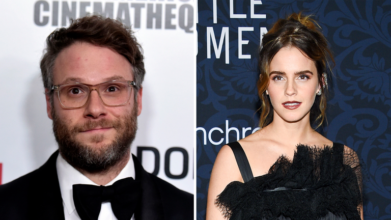Seth Rogen has clarified his comments about Emma Watson. Pics: Richard Shotwell/Invision and Evan Agostini/Invision via AP