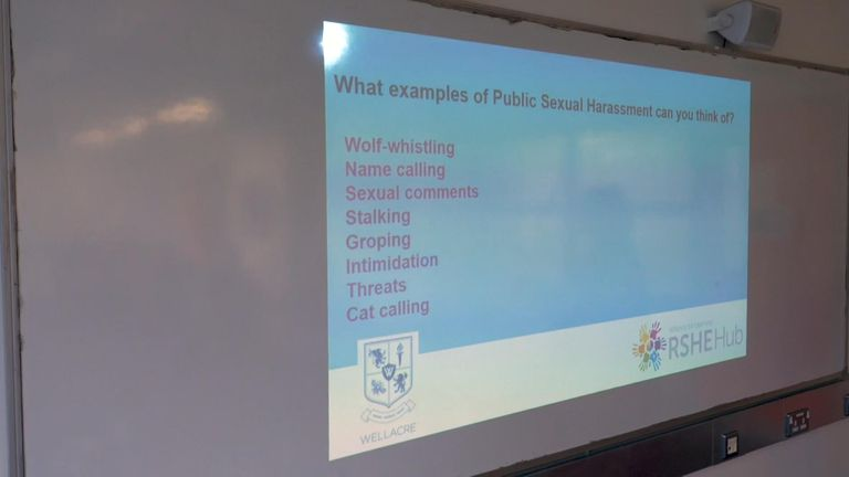 Several Year 10 students told Sky News that they have already witnessed public harassment