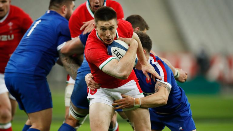 Wales' Josh Adams scored a try not long after half-time
