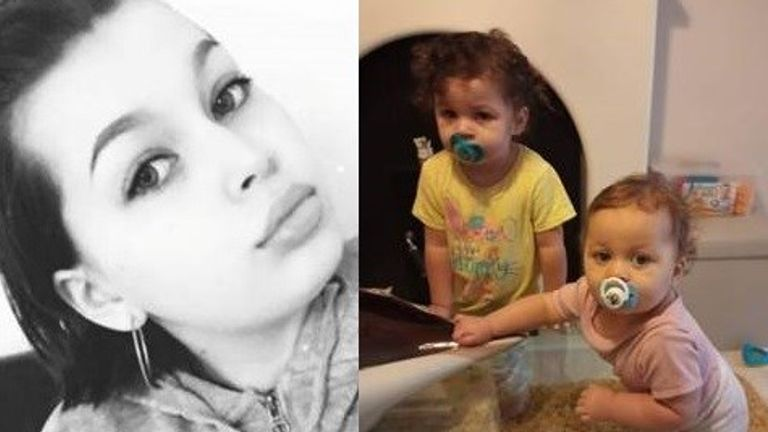 Skye Dorman and her missing children Lola and Sapphire-Bleu. Pic: Thames Valley Police