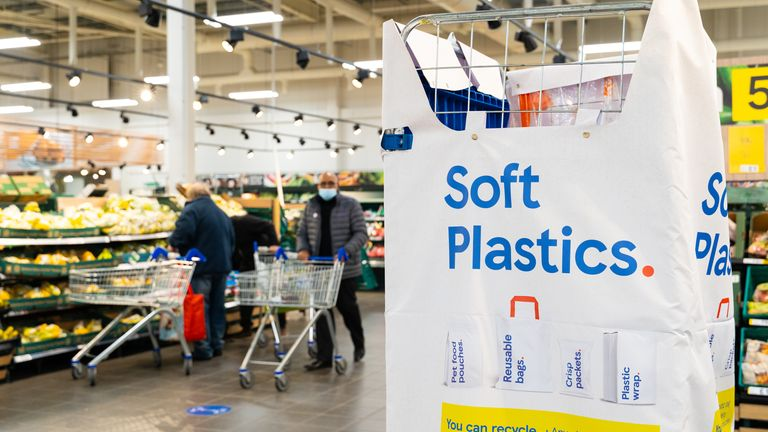 The returned plastic will be used to make new packaging