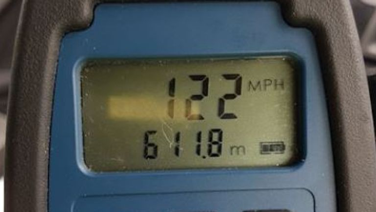 Police clocked the driver at 122mph. Pic: @ASPolice