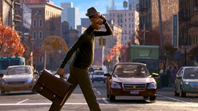 Jamie Foxx's character in Soul. Pic: Disney +