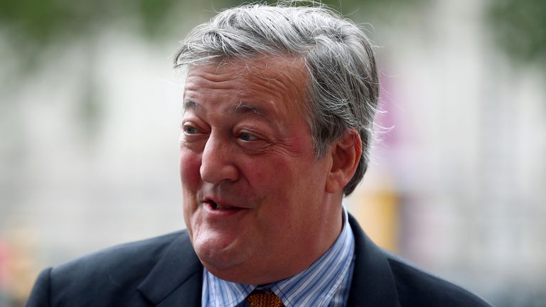 Actor Stephen Fry pictured in 2018