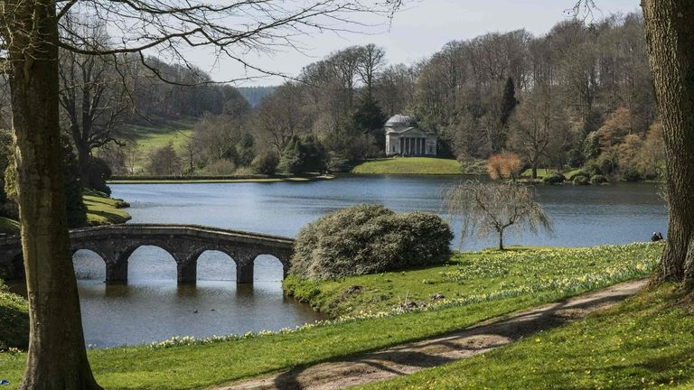 August 22, 2012, Mere, Wiltshire, England: Stourhead; Mere Wiltshire England (Credit Image: © Guy Heitmann/Design Pics via ZUMA Wire)The Palladian house and world-famous landscape garden is owned by the National Trust and was first opened in the 1740s.