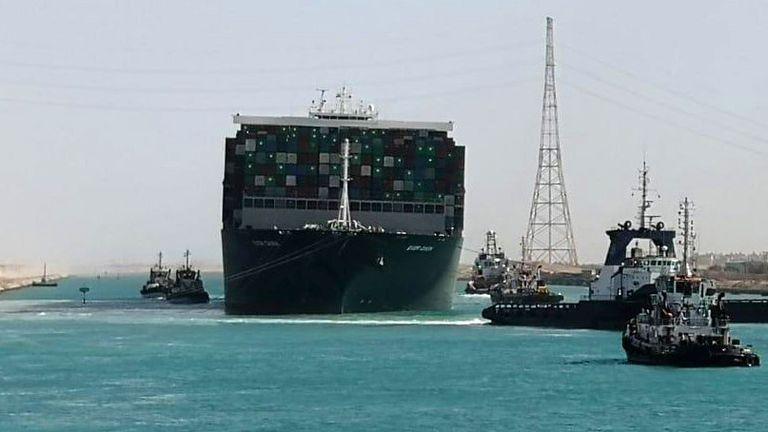 Pic: Suez Canal Authority/Reuters