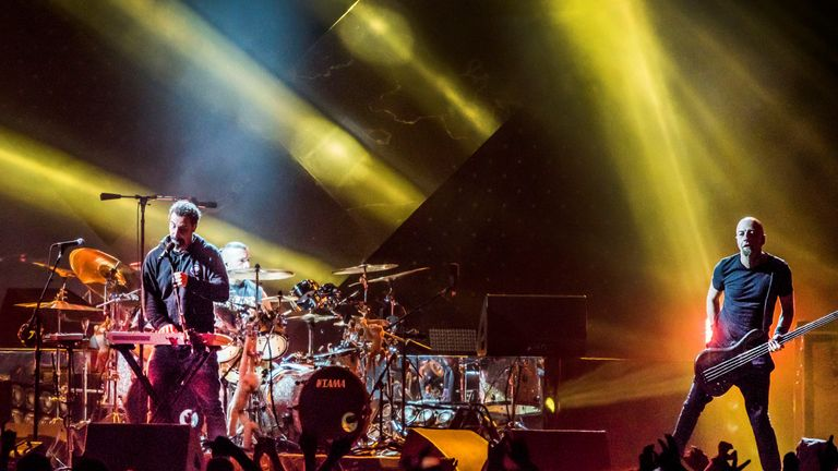 System of a Down, seen on stage in Denmark in 2017, will not appear at Download in 2022