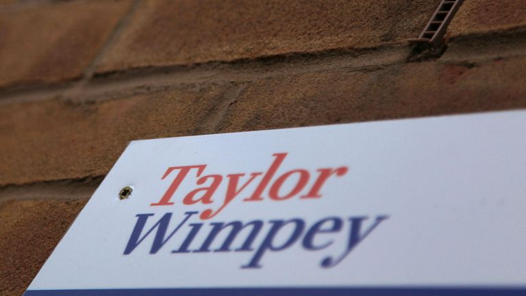 A sign outside apartments at Amhurst Corner in Hackney, east London, developed by home builder Taylor Wimpey. PRESS ASSOCIATION Photo. Picture date: Sunday 6 March, 2011. Photo credit should read: Yui Mok/PA Wire.