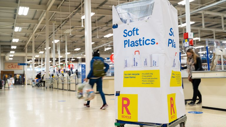 Tesco has started the roll-out of its 'soft plastic' recycling points