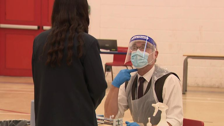 Pupils tested at Salford City Academy