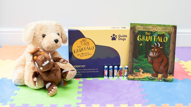 Guide Dogs UK has produced a kit of nasal inhalers to represent the Gruffalo and the four creatures who meet him