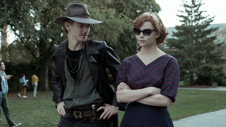 Thomas Brodie-Sangster with Anya Taylor-Joy in The Queen's Gambit. Pic: Netflix