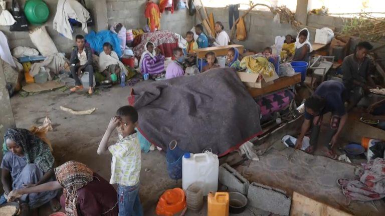 Tigray refugees. Sparks eyewitness