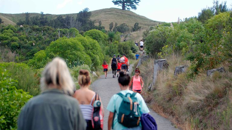 Some New Zealanders moved to higher ground after the tsunami warnings were issued. Pic: AP