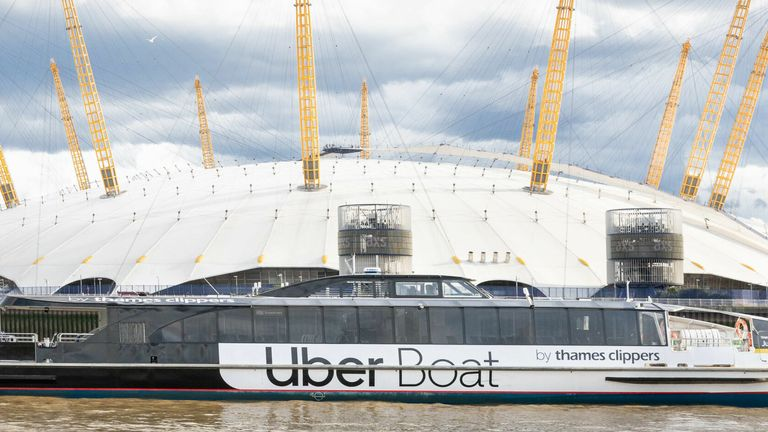 Uber has joined up with Thames Clippers to launch its Uber Boat service (Uber/ George Sharman GSP via PA) 3/8/2020