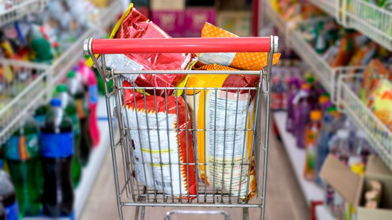 Reducing fat content in packaged foods