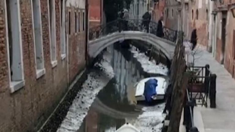 Water level drops alarmingly low in some Venice canals
